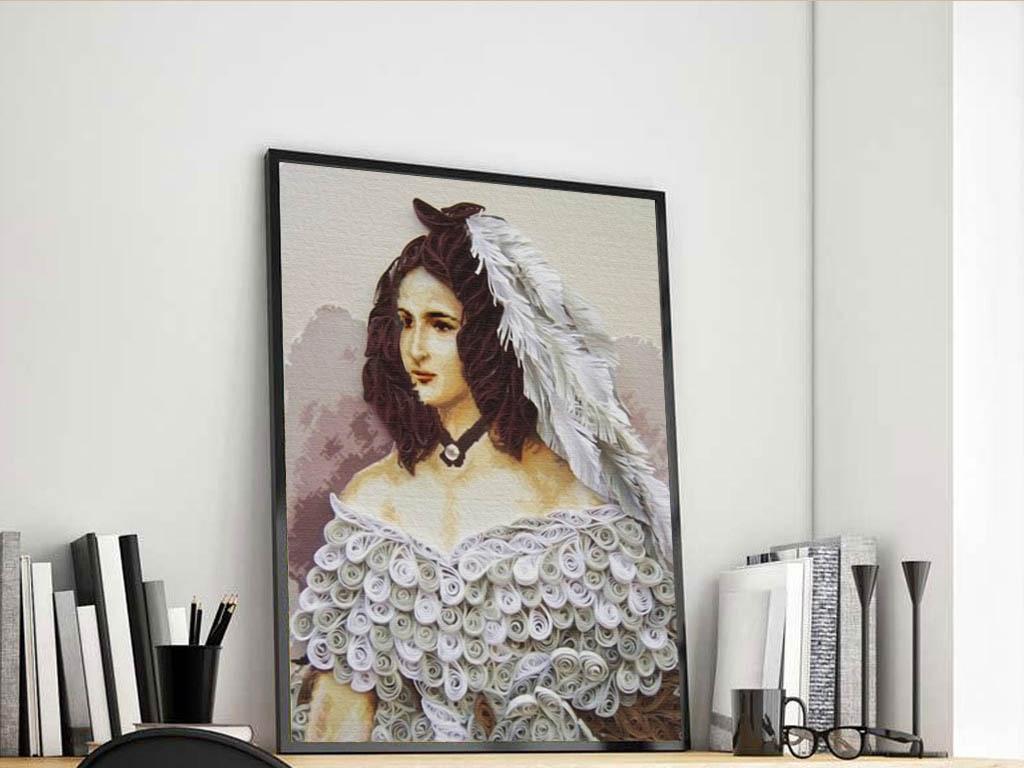 时尚欧洲人物装饰画油画蒙娜丽莎