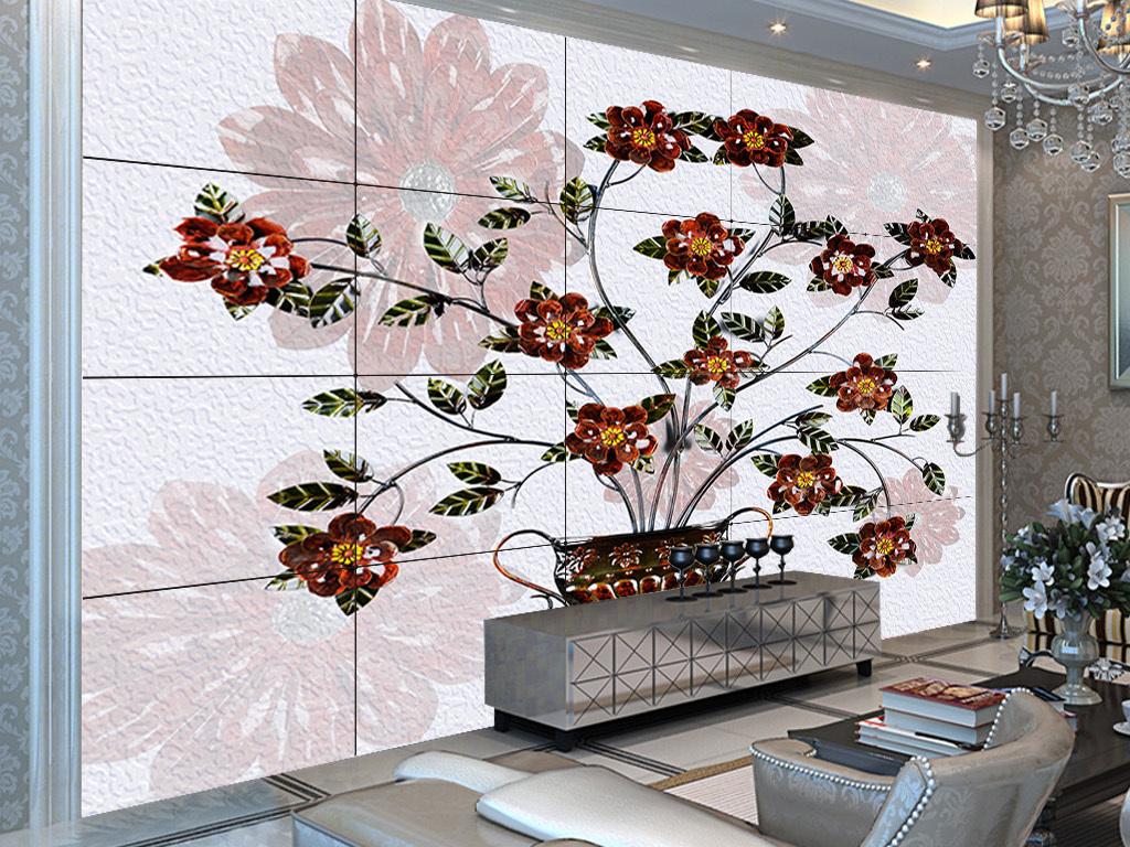 欧式立体浮雕花朵