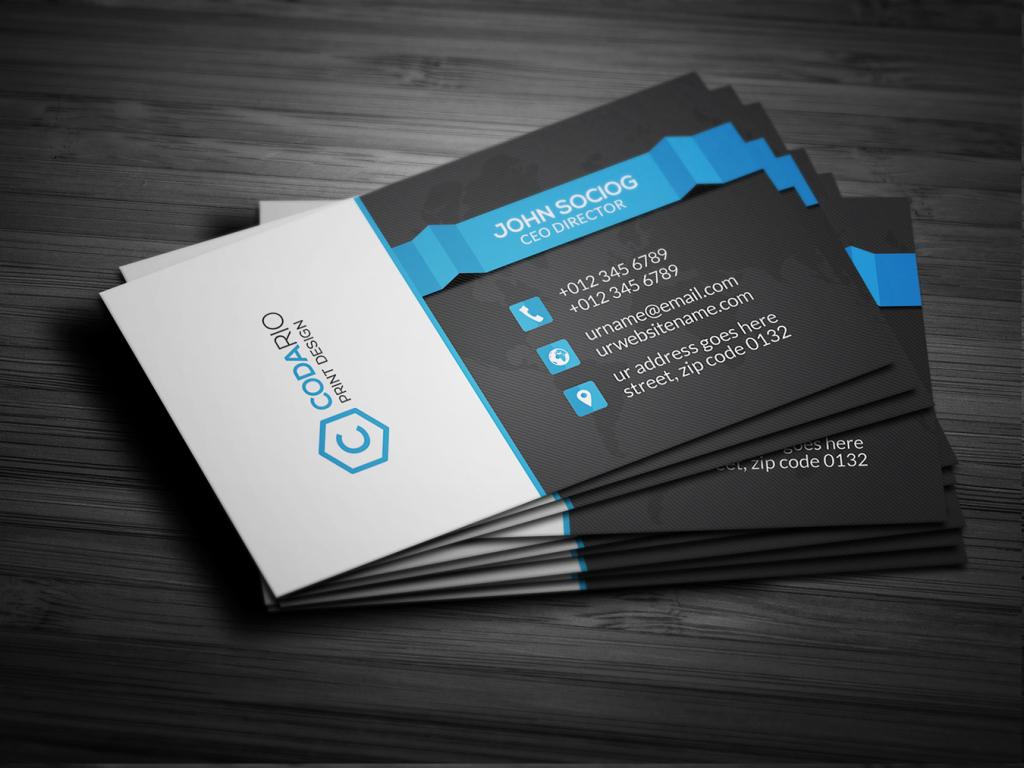 商业服务名片设计模板图片