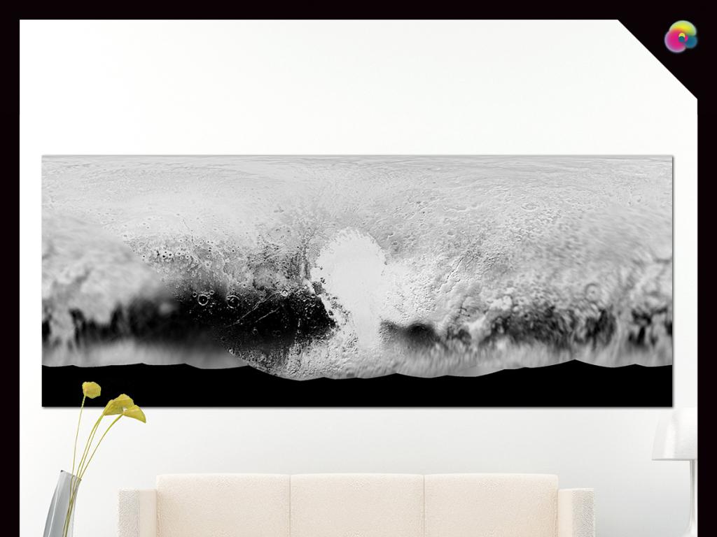 欧式现代简约地中海大海抽象油画电视背景墙