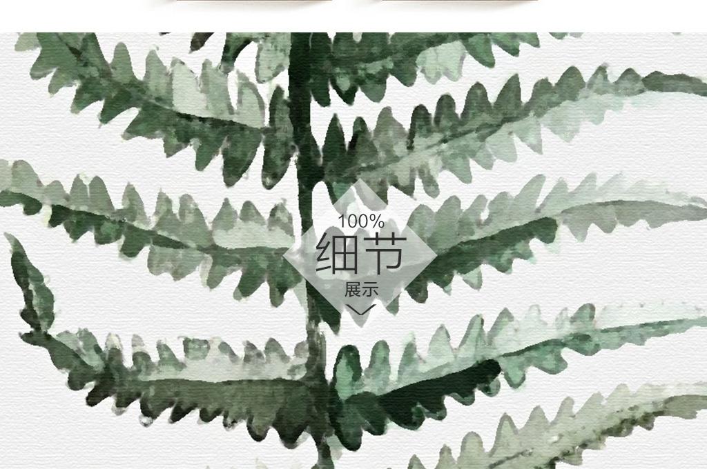北欧简约金星蕨植物装饰画