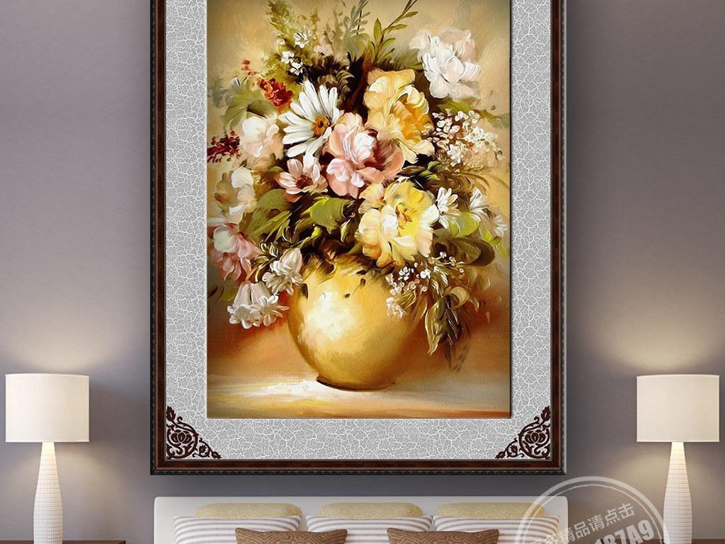 油画欧式花卉欧式花卉油画花卉欧式室内装饰画人物
