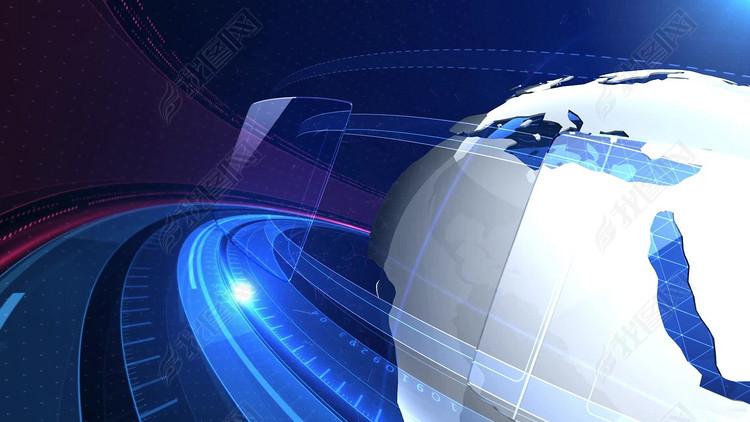 蓝色大气科技新闻视频片头模板
