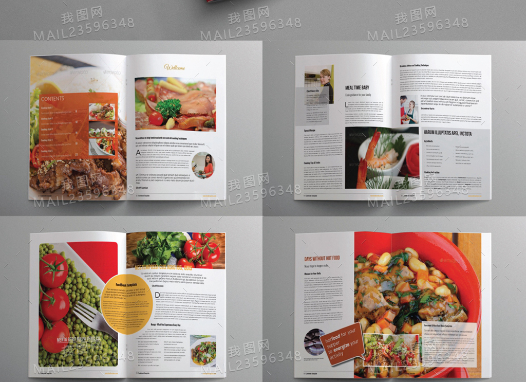 餐厅水吧美食画册杂志刊物设计模板