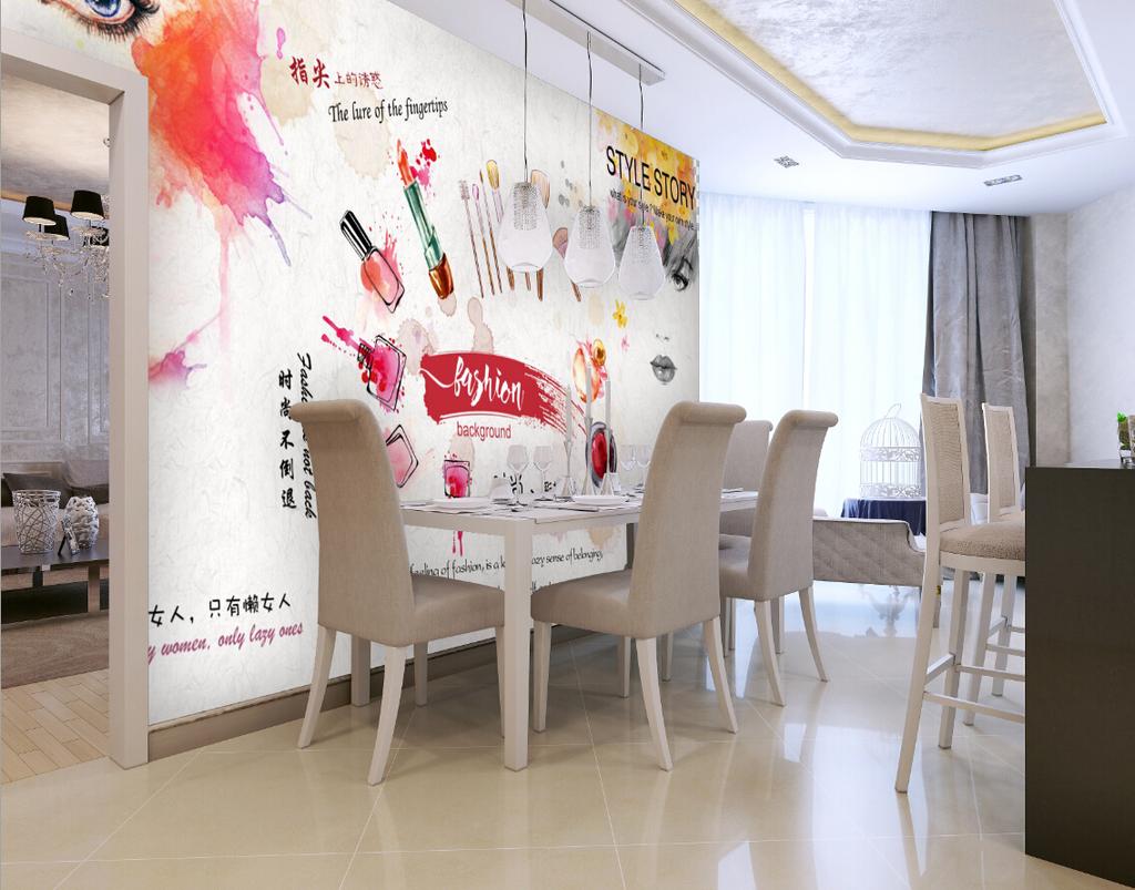 欧式客厅彩铅效果图
