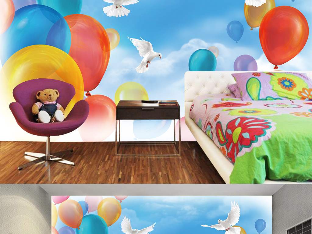背景墙|装饰画 电视背景墙 现代简约电视背景墙 > 手绘高清蓝天白云