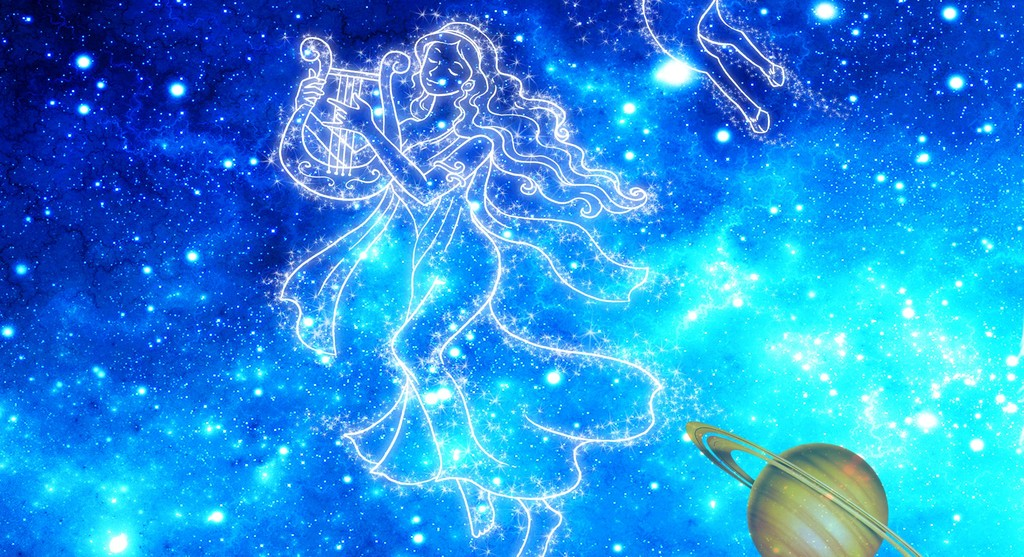 梦幻星空翅膀12星座ktv工装背景墙图片