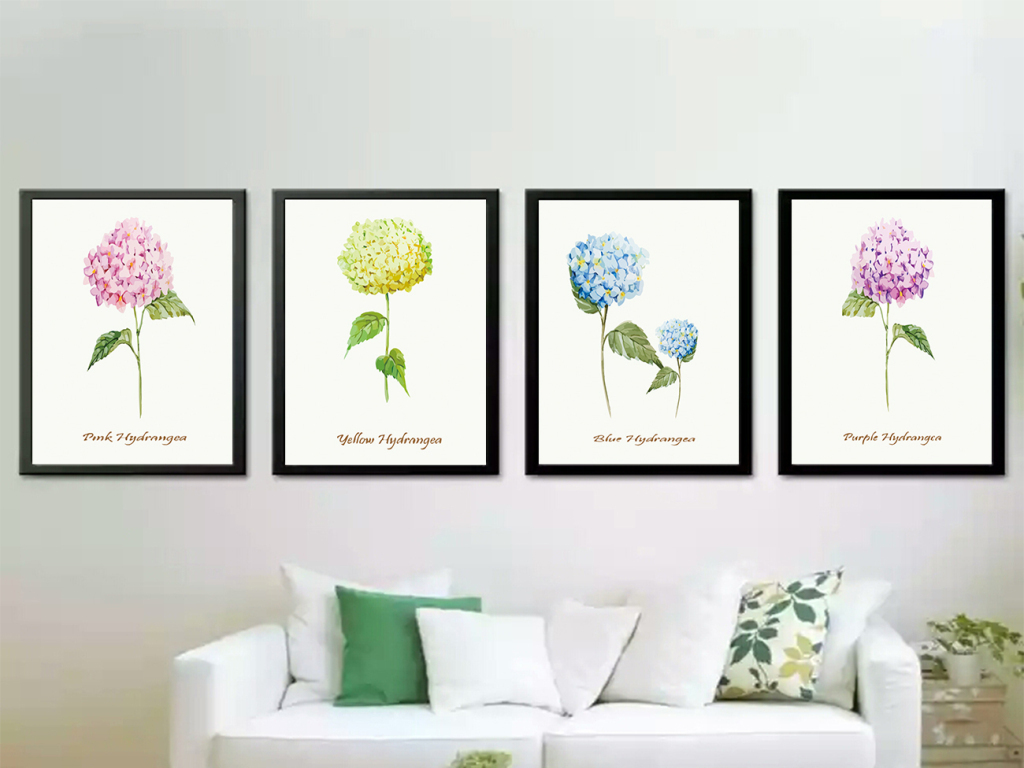 现代简约小清新植物花卉无框画