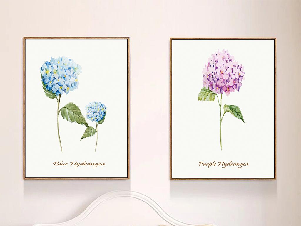 简约小清新清新植物花卉花朵花卉背景梦幻花卉手绘花