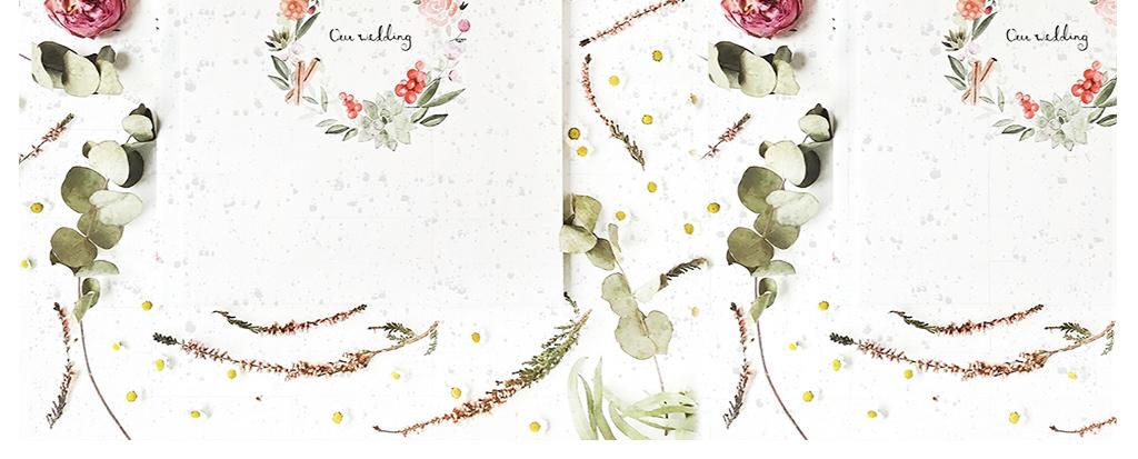 3d北欧简约现代时尚叶子花卉信纸背景墙图片