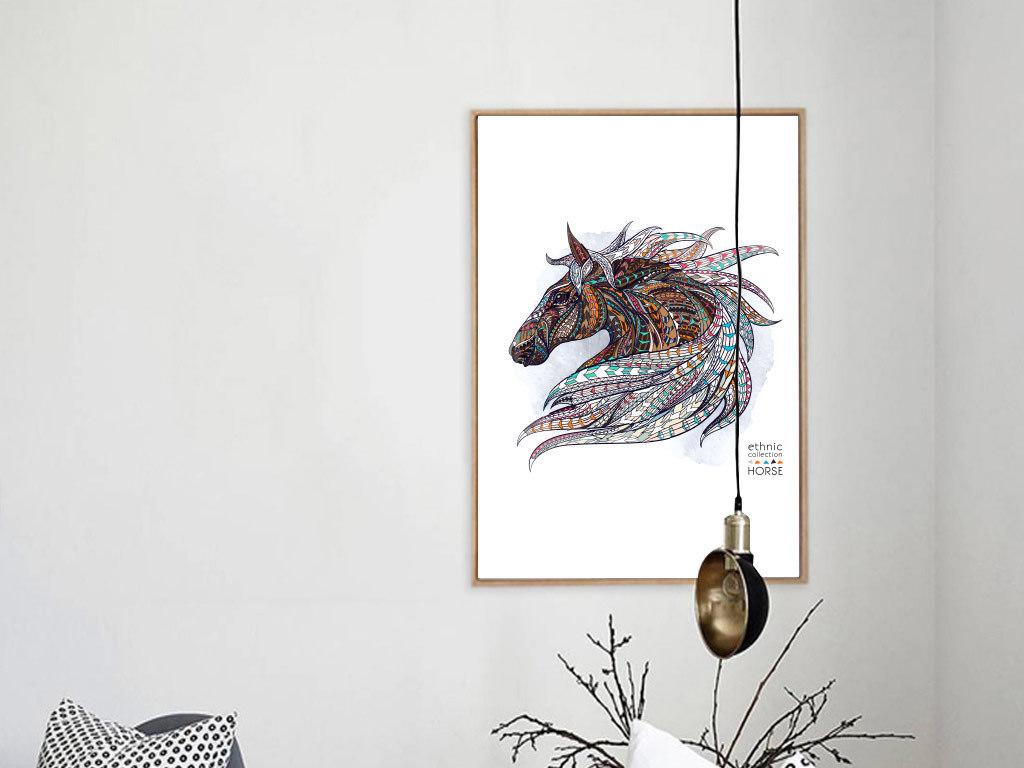 现代简约动物无框装饰画现代简约手绘