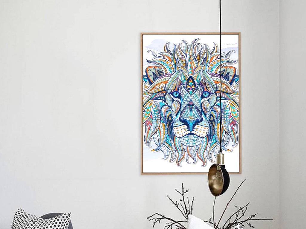 动物图案无框画
