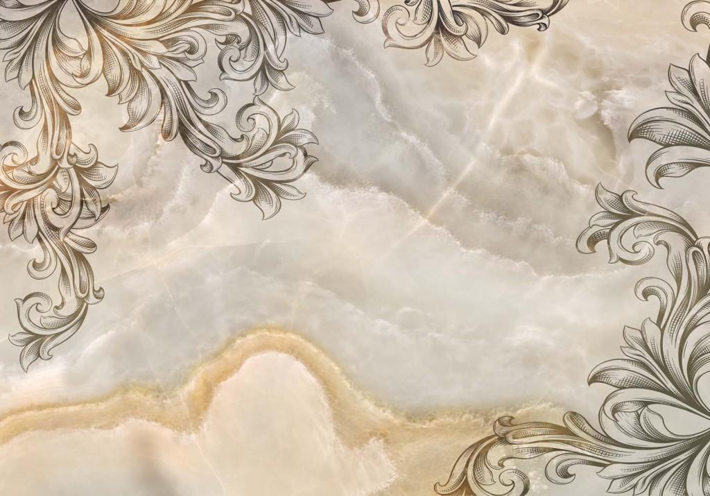 高清大理石背景墙欧式花纹杰尔拉皇室飞花