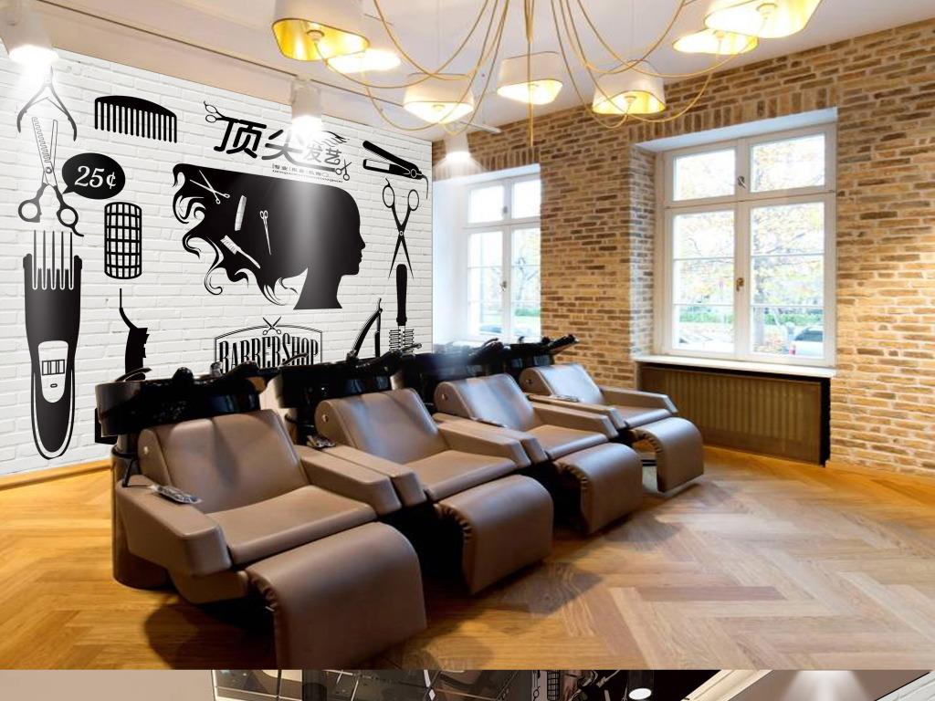 美发店背景墙(图片编号:15805606)图片
