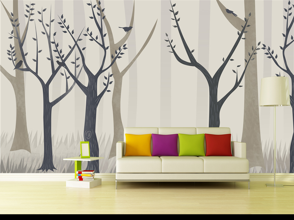 背景墙北欧风格手绘