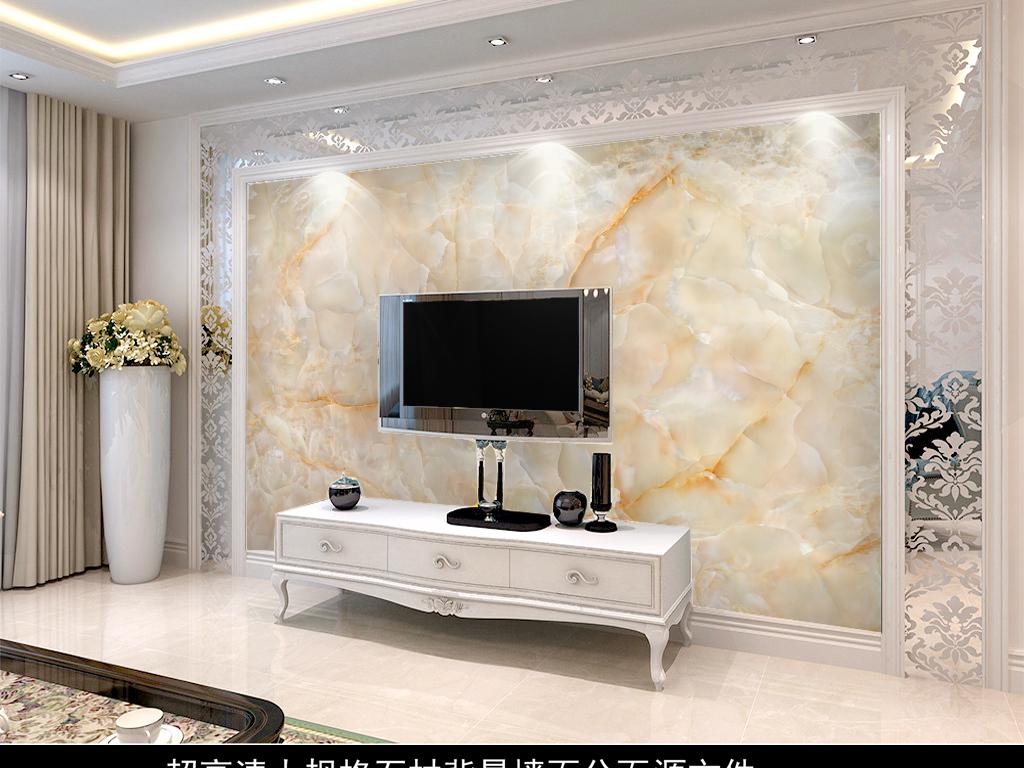 欧式3d瓷砖背景墙贴图