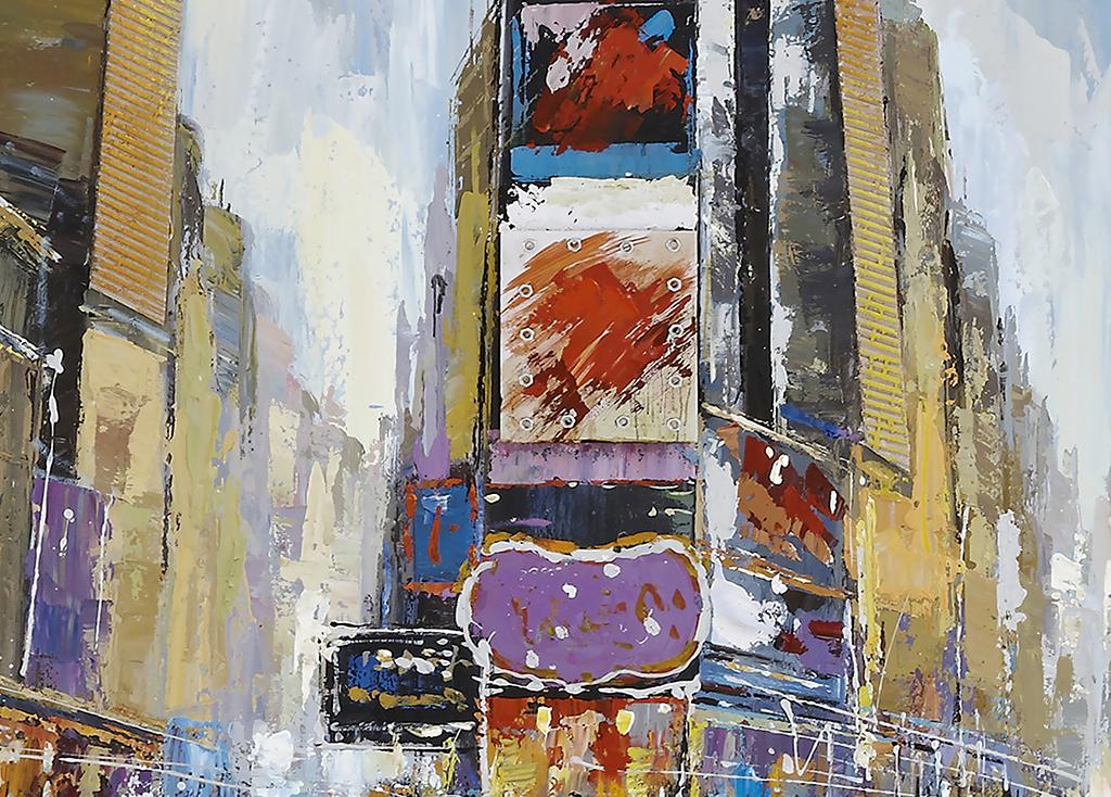 纽约城市风景油画(图片编号:15806655)