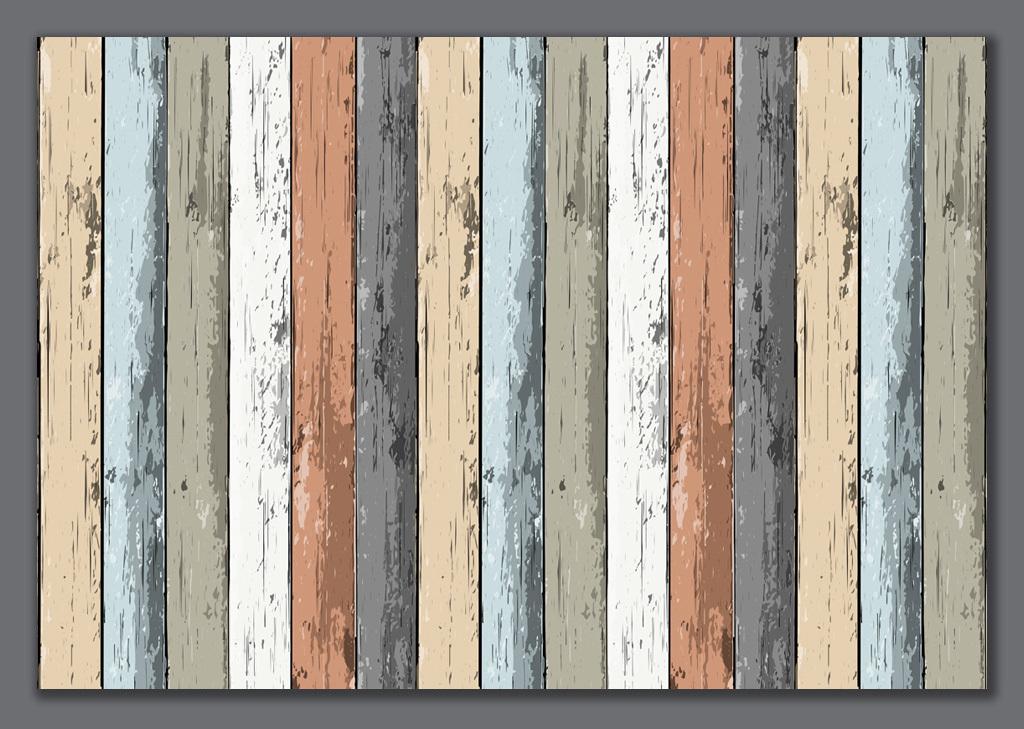 彩色木板木纹背景墙(图片编号:15807426)