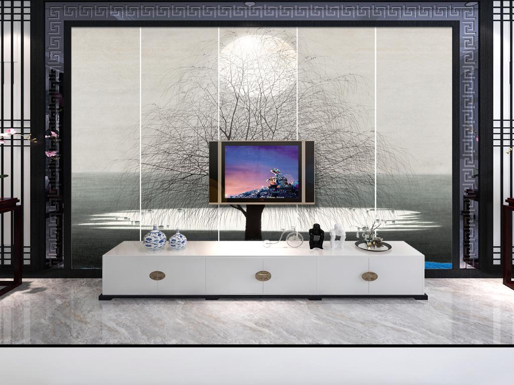 背景墙|装饰画 电视背景墙 手绘电视背景墙 > 手绘百鸟图电视背景墙