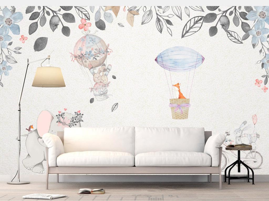 欧式手绘田园风电视背景墙