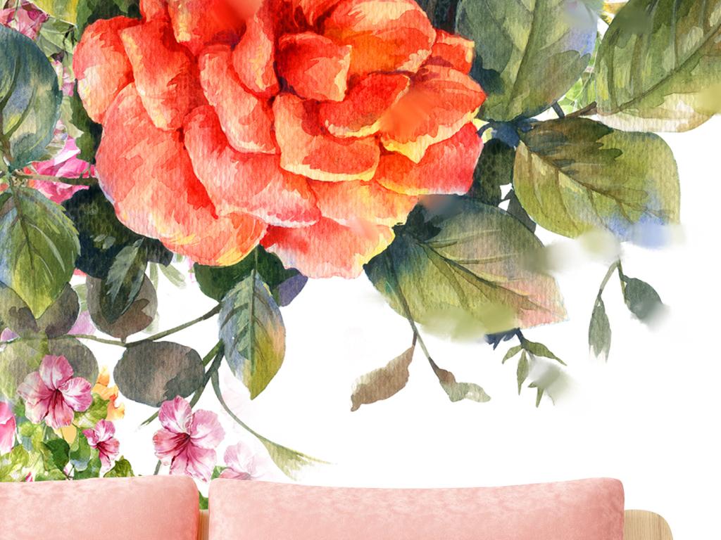 我图网提供精品流行手绘红色花朵花卉装饰画玄关素材下载,作品模板源文件可以编辑替换,设计作品简介: 手绘红色花朵花卉装饰画玄关 位图, RGB格式高清大图,使用软件为 Photoshop CS5(.tif不分层)