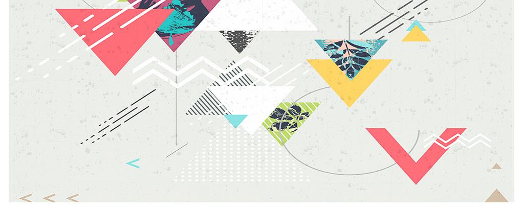 现代简约时尚素雅几何三角形拼贴图案背景墙图片