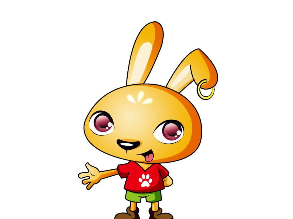 小黄兔卡通形象设计