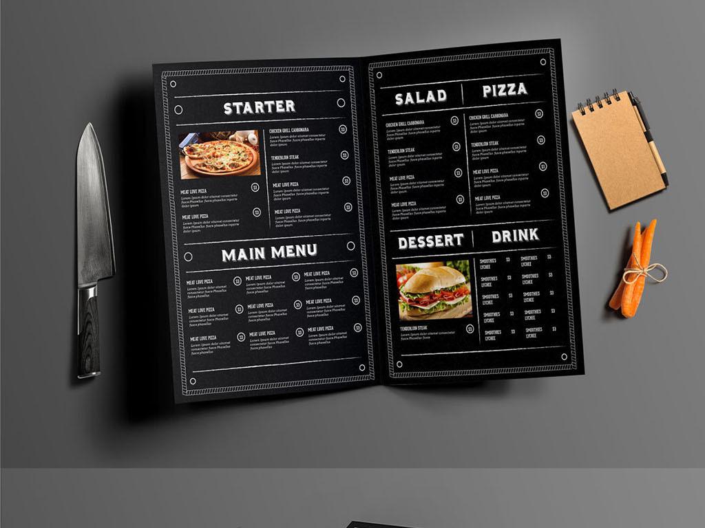 中西餐咖啡店点餐牌菜单