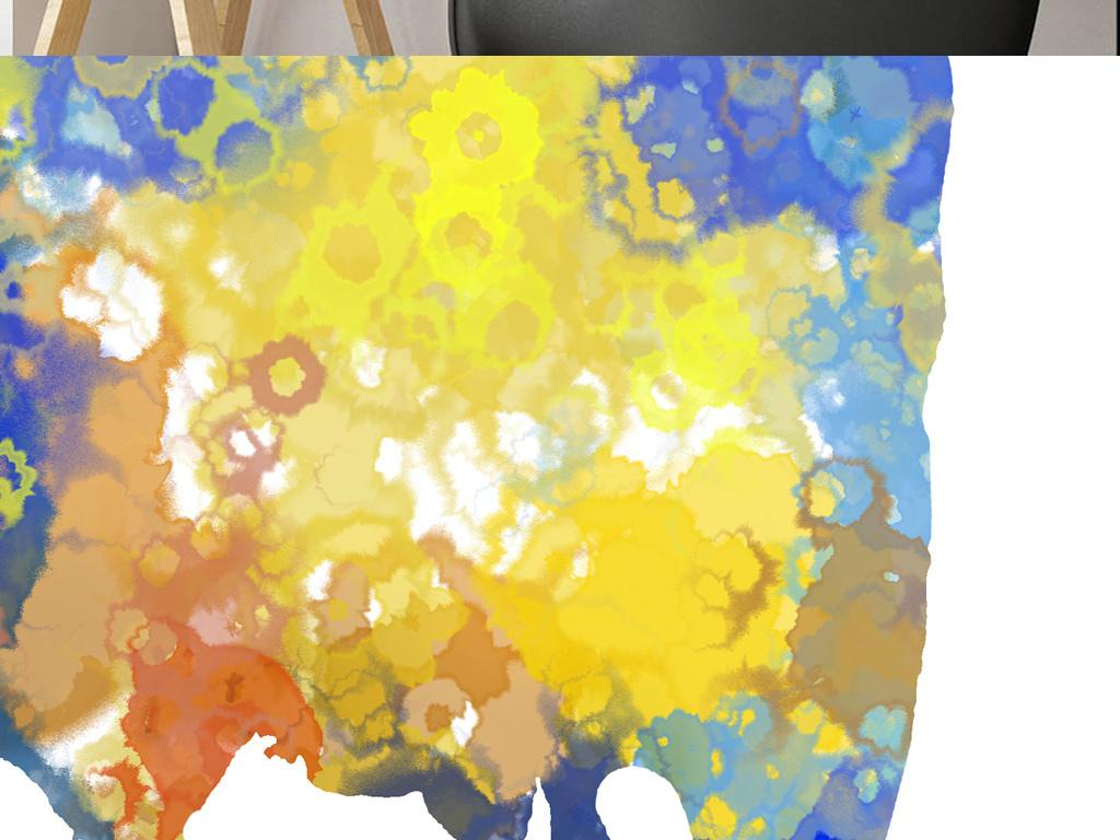 美克美家大象长颈鹿斑马现代简约炫彩水彩动物画