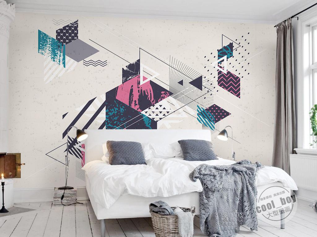 电视背景墙 现代简约电视背景墙 > 现代简约时尚科技线条简单几何图形