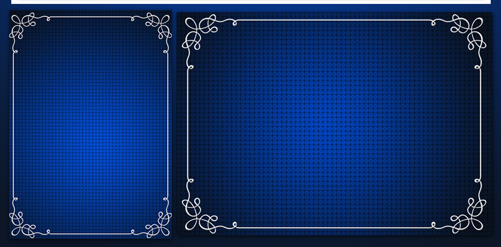 复古蓝色边框信纸背景图片