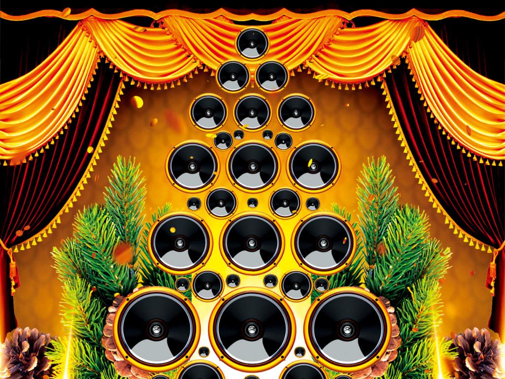 高贵华丽圣诞新年跨年晚会迎新活动创意海报图片