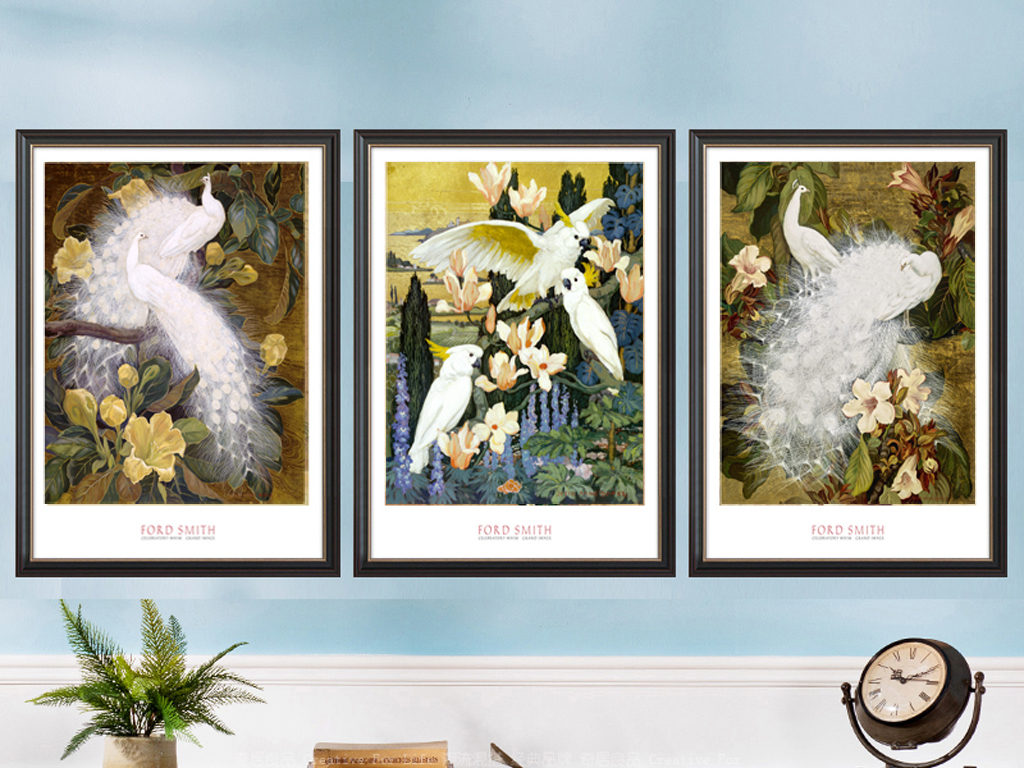 孔雀图库美克动物无框画动物画轮廓简单画动物黑白动物画无框画动物