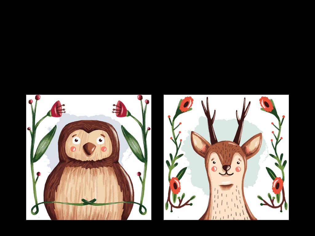 装饰画   动物手绘 动物   色彩