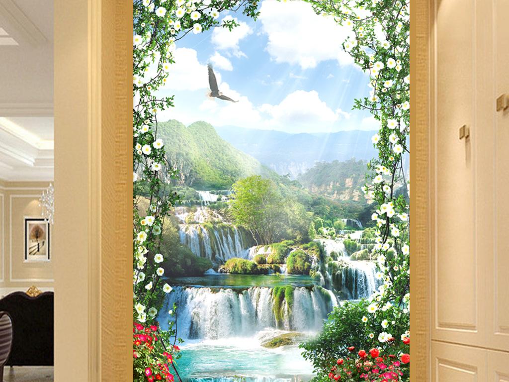 壁纸酒店大堂屏风欧式