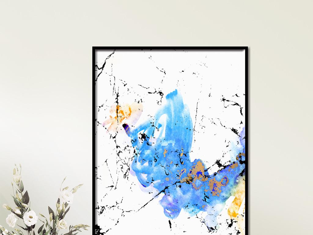 尚抽象艺术线条现代简约装饰画