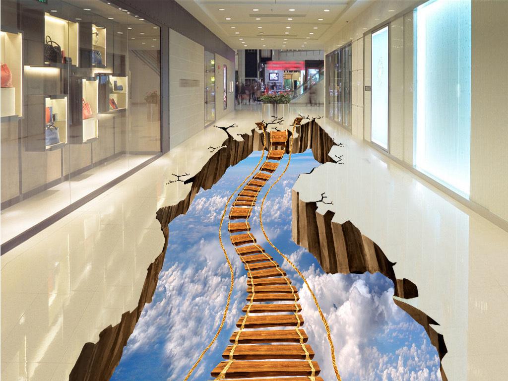 手绘3d立体梯子步骤图