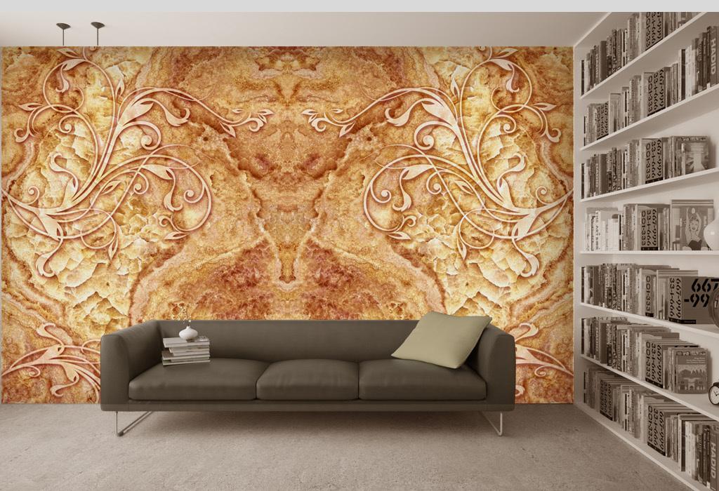 简约花大理石花岗岩背景3D电视背景墙壁画