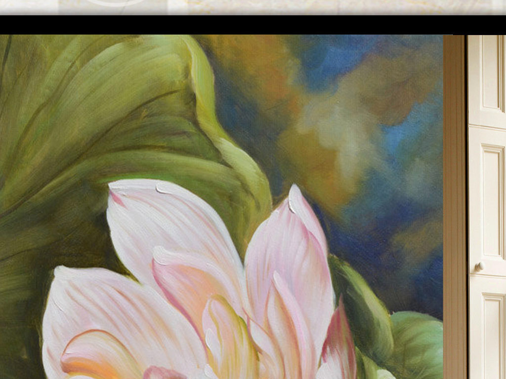 手绘花朵唯美玄关(图片编号:15820264)_山水花鸟玄关