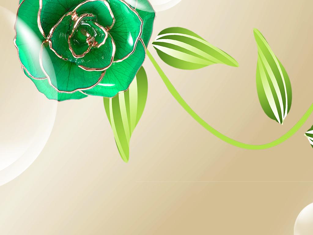 3d立体奢华欧式天鹅珠宝花朵电视背景墙(图片编号:)