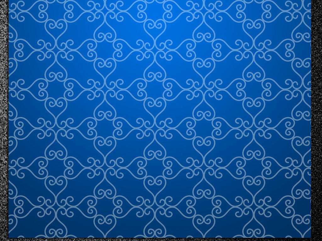 蓝色花纹信纸边框背景(图片编号:15821510)