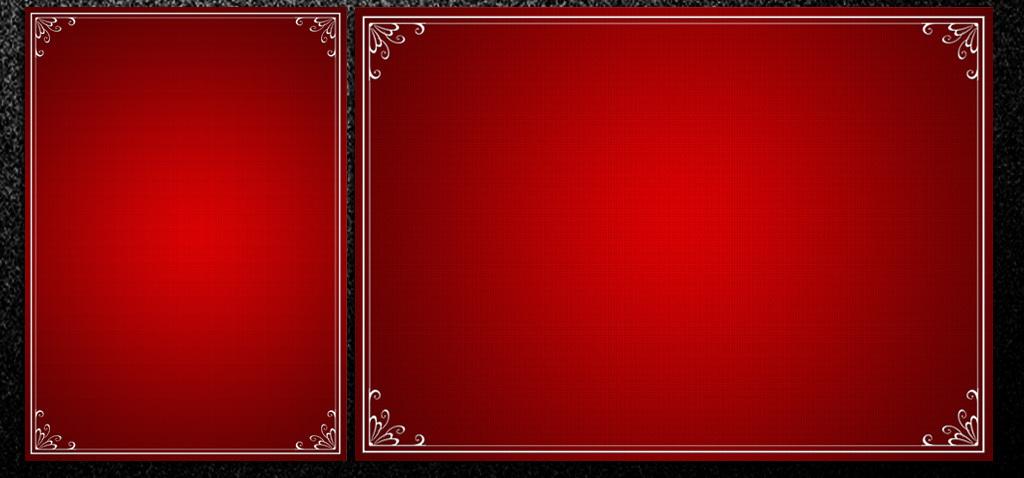 psd)红色大气中国风边框海报a4信纸背景      图片