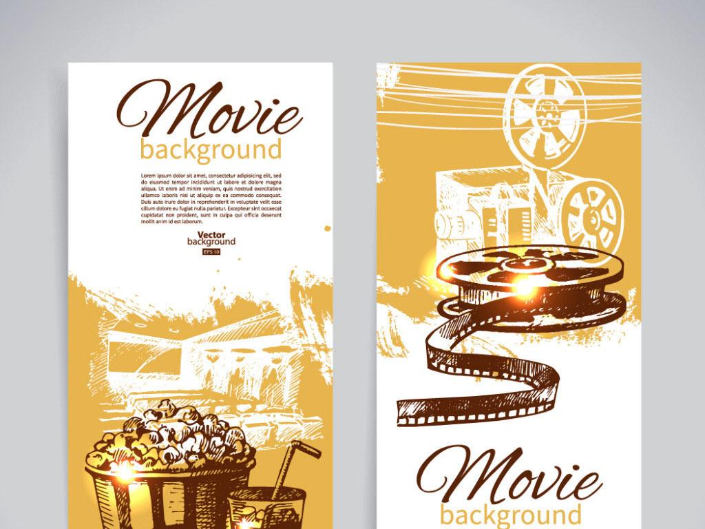 平面|广告设计 海报设计 pop海报 > 电影主题素描海报  版权图片 分享