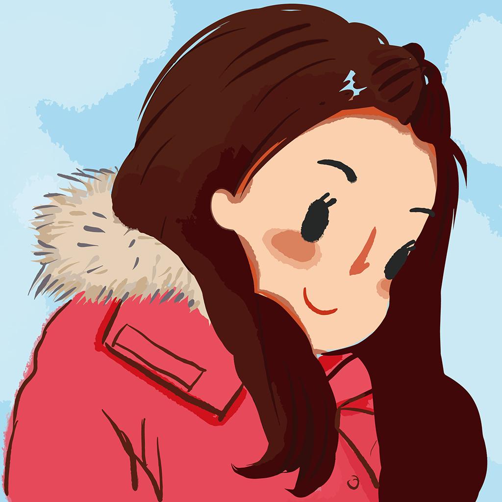 卡通人物矢量图卡通动漫人物头像女孩