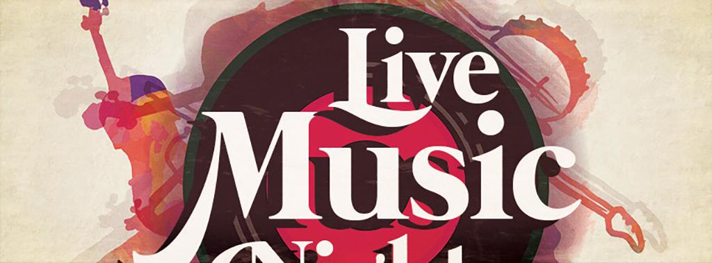 怀旧复古手绘文艺现场音乐演出晚会宣传海报