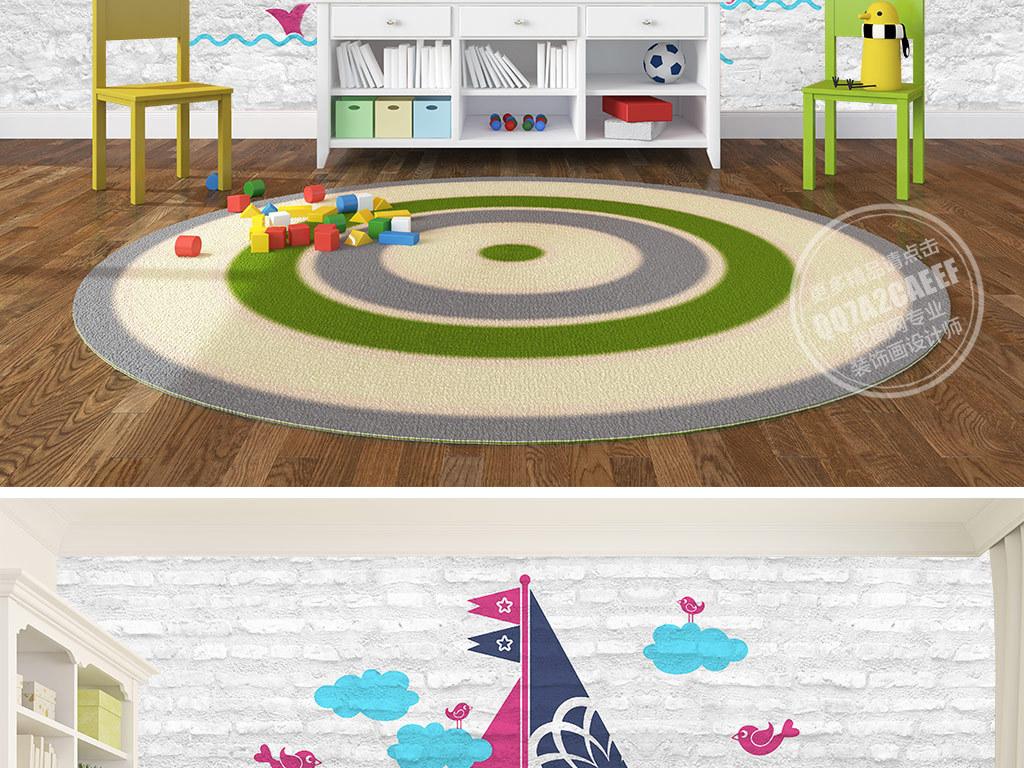 墙贴卡通儿童装饰画幼儿园