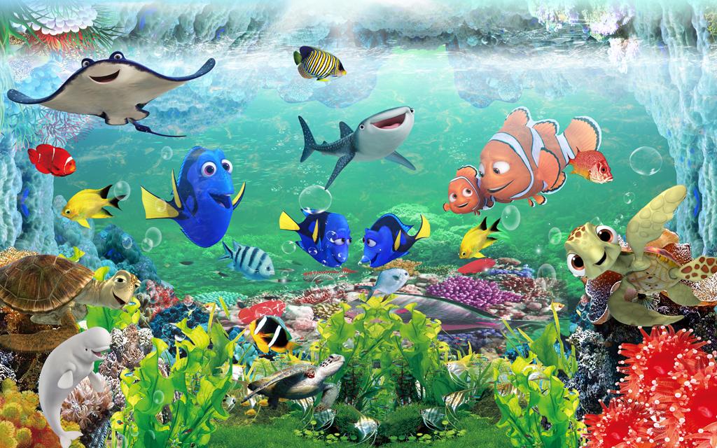 3d儿童房壁画梦幻海底世界背景墙