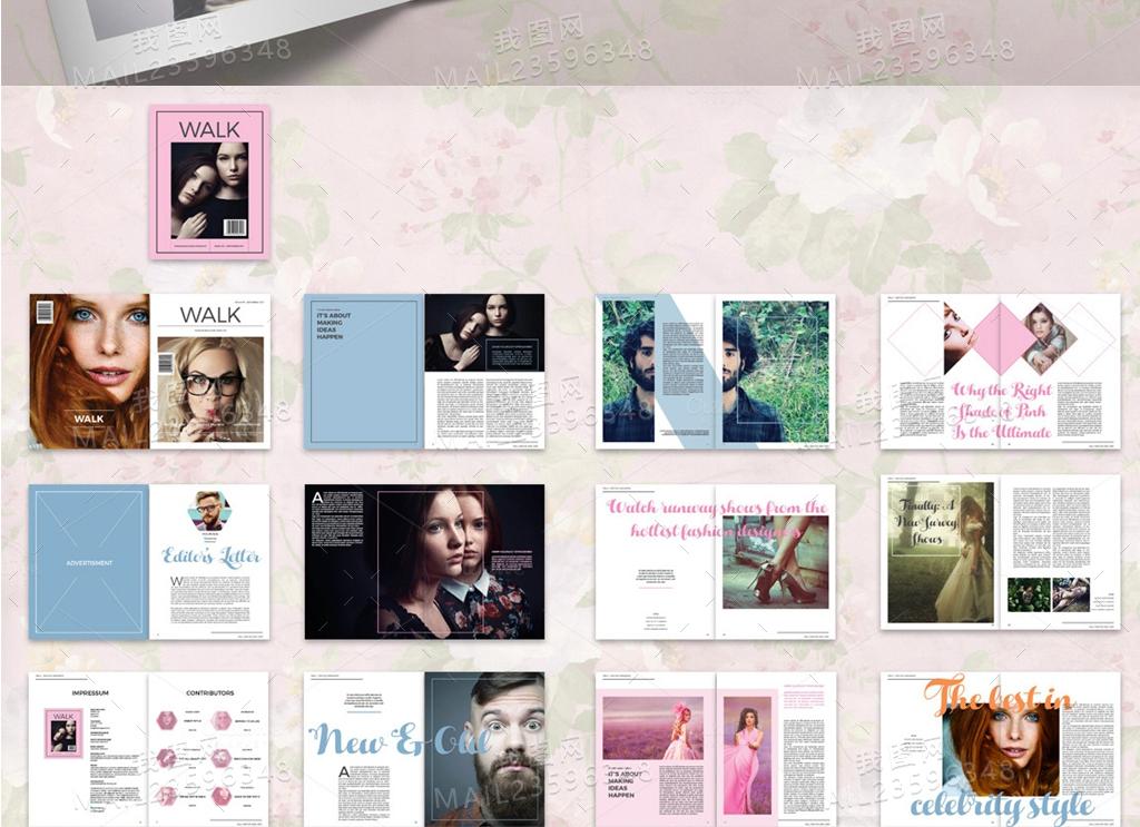 2017现代时尚大气杂志设计产品画册模板