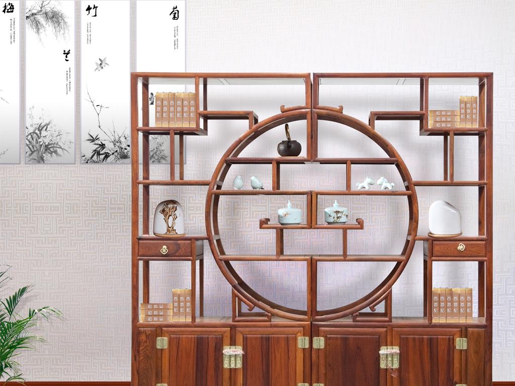 中国风中式书房摆件设计图片
