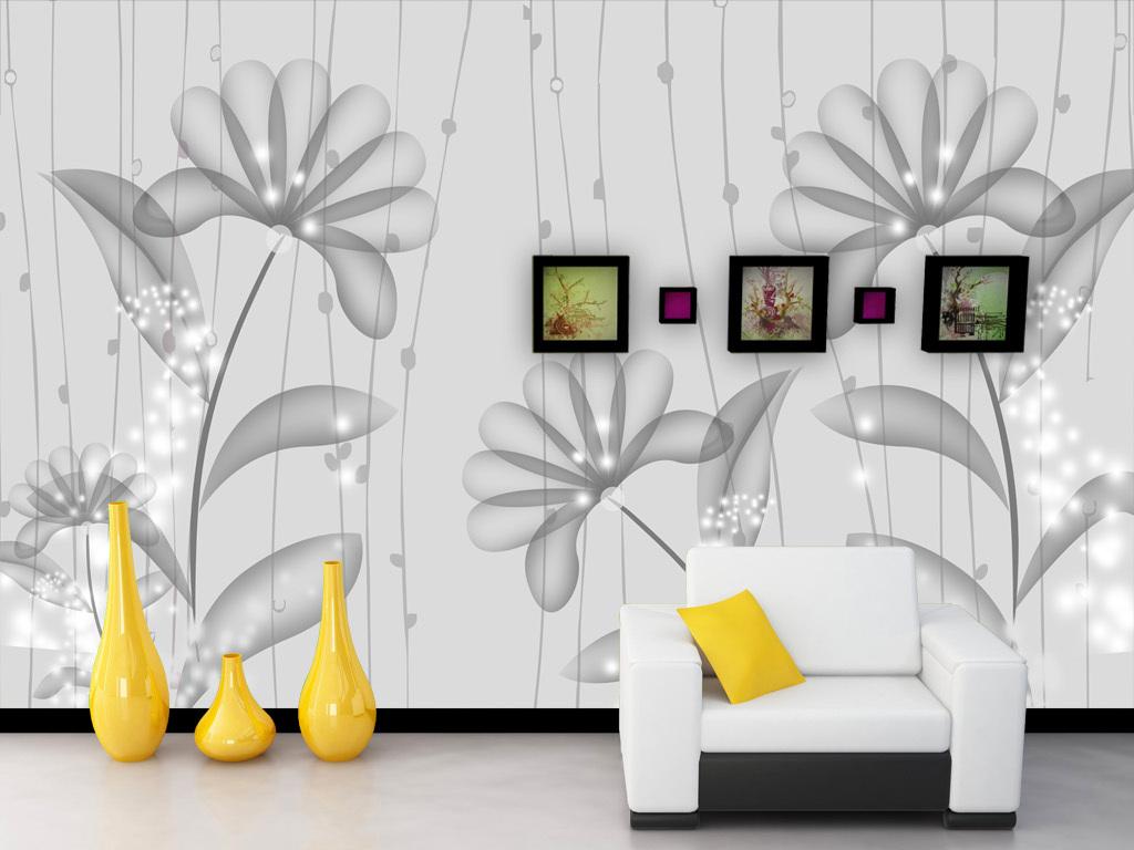 背景墙电视墙形象墙欧式风格易卡米素简约淡雅线条现代抽象高雅